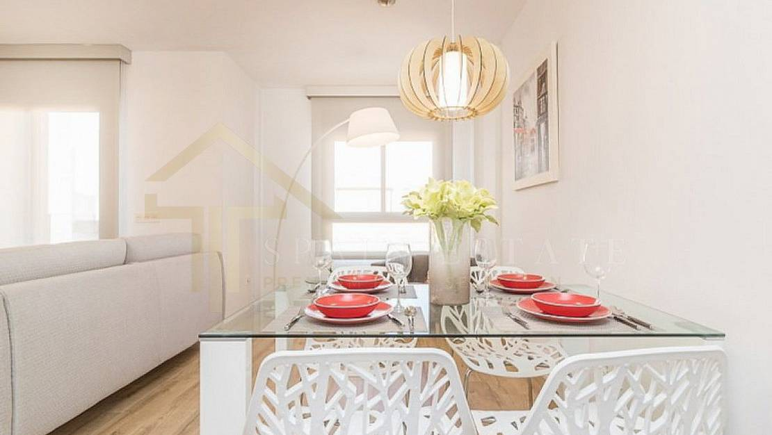 Apartment in Torrevieja, with elevator. - Dining Room.