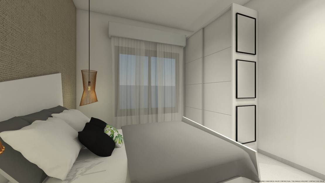 Bedroom | New build apartment with solarium in Mil Palmeras