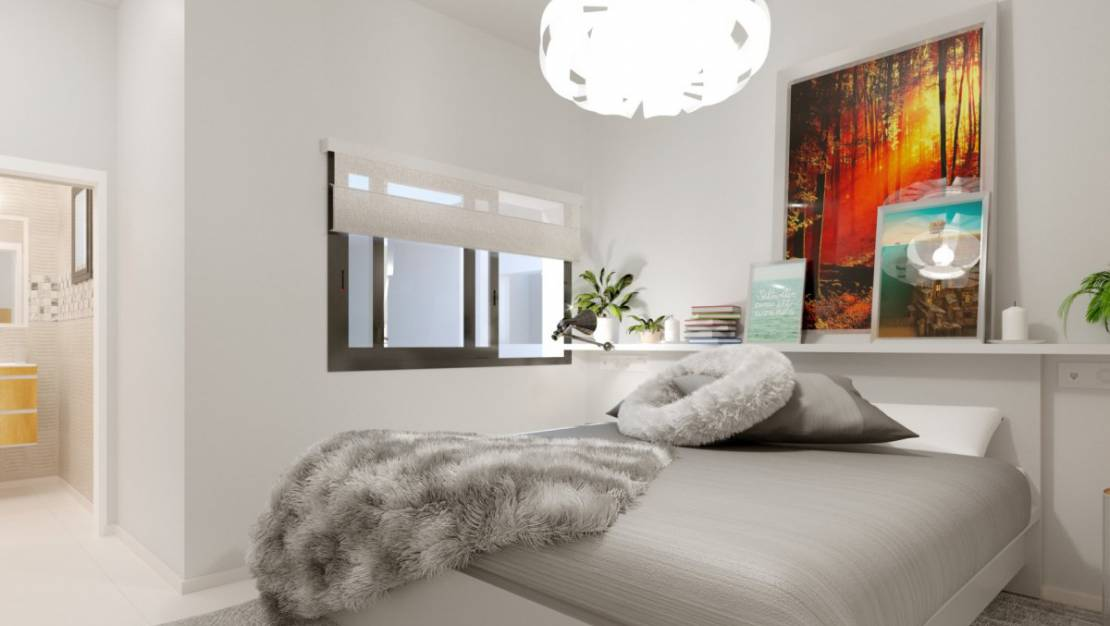 Bedroom | New build apartments with pool for sale in Playa del Cura