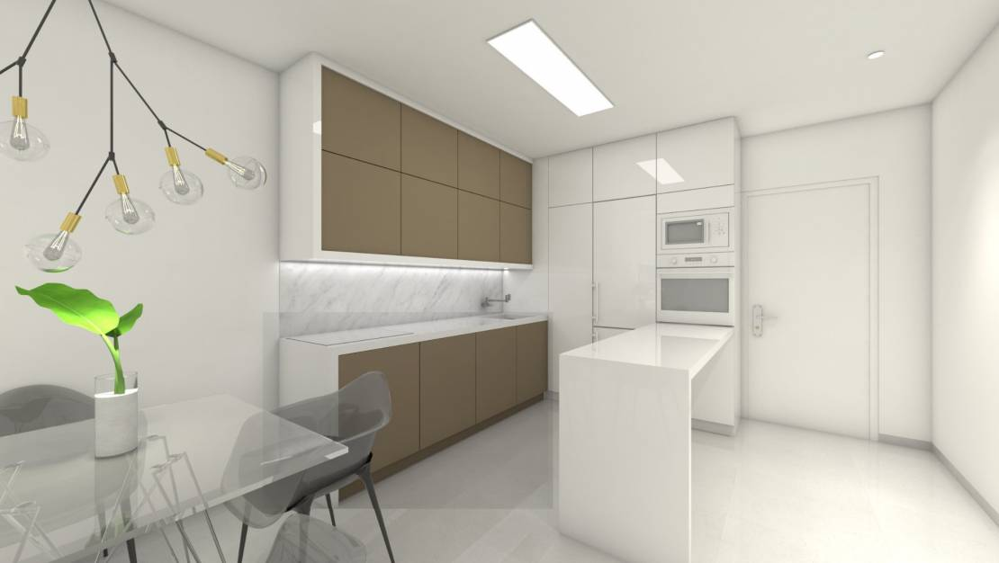 Equipped kitchen | New build apartments for sale in Mil Palmeras - Orihuela Costa