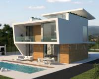 exterior views of this Design Villa in Orihuela Campoamor area with Pool and Sea Views