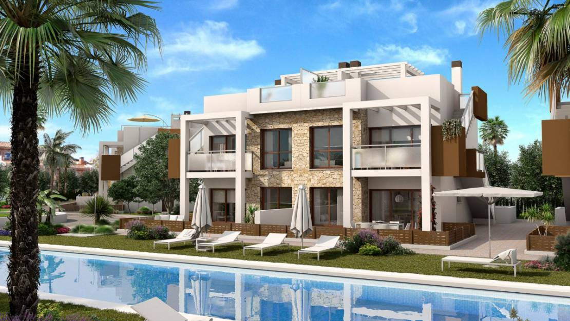 Front view. Apartments For Sale in Los Balcones of Torrevieja