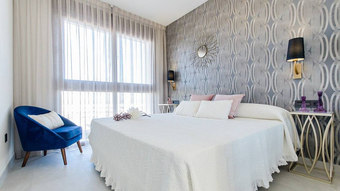 Large bedrooms. Apartments For Sale in Los Balcones of Torrevieja