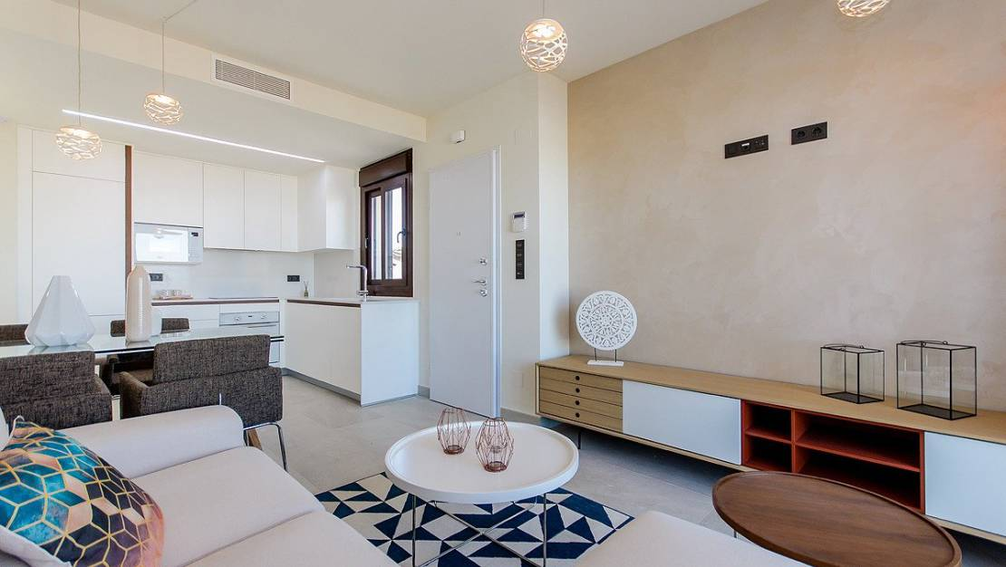 living room. Apartments For Sale in Los Balcones of Torrevieja