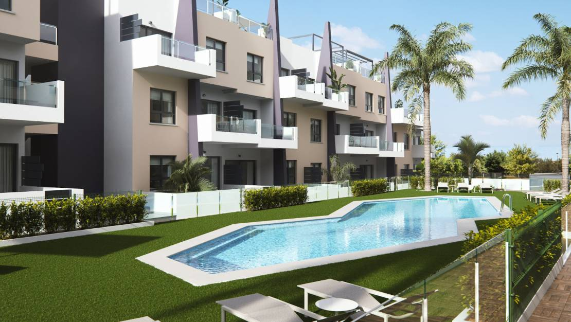 Residential with pool | Modern apartment complex in Mil Palmeras